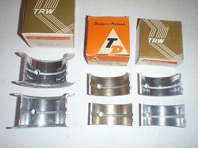.010 Main Bearing Set 1940s Ihc Tractor Farmall M Mv Mccormick-deering T6 Iu6 W6