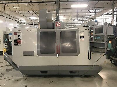 2004 Haas Vf-5b40 Cnc Vertical Machining Center Vop-c 10000 Rpm 30 Hp 4th Axis