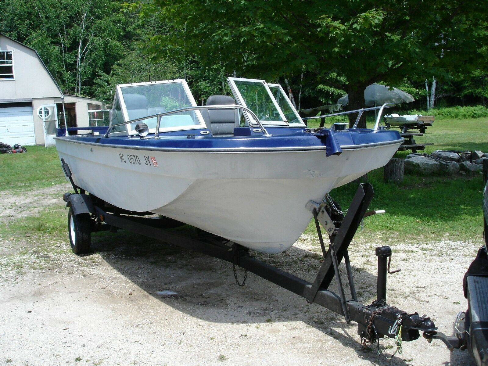 1973 Cathedral 18 ft fishing boat w/Volvo Penta with trailer