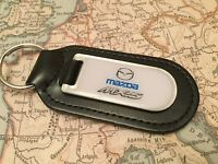Mazda Mx 5 Key Ring Printed And Resin Coated On Leather - mazda - ebay.co.uk