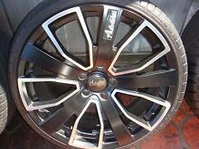 "Set Of 20"" Advanti Black With Chrome Rims 5 Stud x 114.3 Pattern Green Valley Liverpool Area Preview"