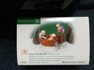 Department 56 North Pole Series Elf land Village Party in the Hot Tub #56.56802 56 North Pole Series