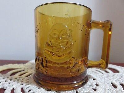 Vintage Humpty Dumpty / Tom Tom The Piper' Son Nursery Rhyme Child's Mug, Amber