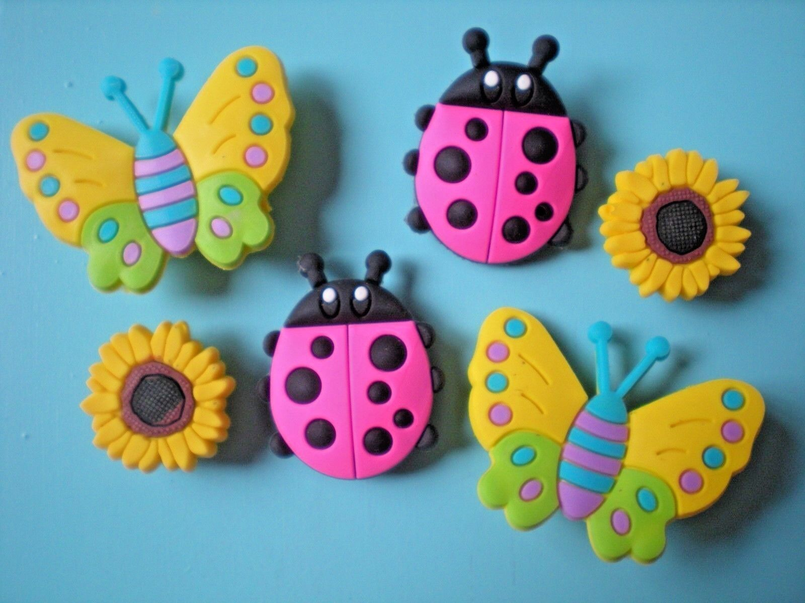 Clog Shoe Charm Plug Accessories Sandal Bracelet 6 Beetle Butterfly
