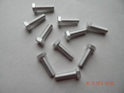 Aluminum Hex Cap Screws  38-16 X 1 14  10 Pcs. New