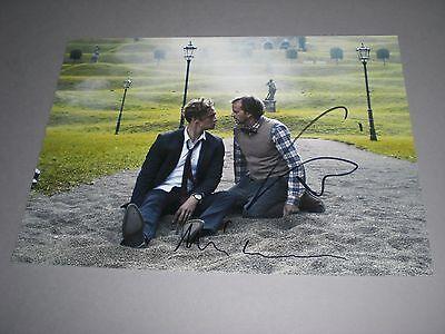 Matthias Schweighöfer + Milan Peschel signed Autogramm auf 20x28 Foto in person