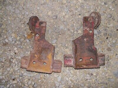 Mccormick Farmall F20 Ih Tractor Front Brake Cable Pulley Brackets