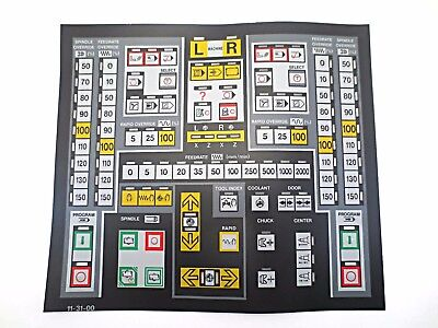Cnc Machine Keypad Replacement Membraneoverlay 11-31-00. Nos