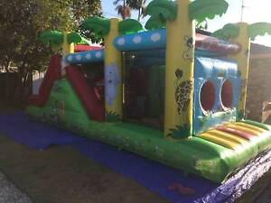 jumping castle obstacle course for hire