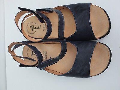 THINK Sandalen blau, Gr. 39, neu, gebraucht gebraucht kaufen  Versand nach Austria
