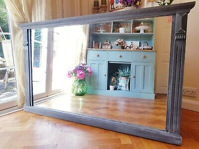 Large Antique Pine Mirror