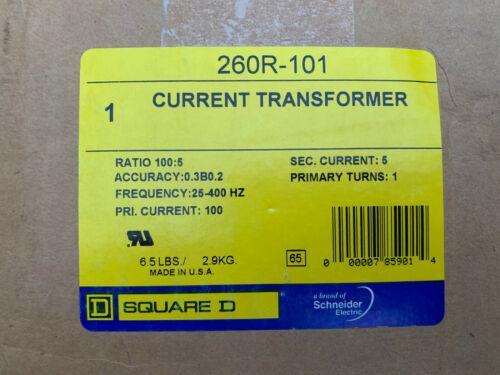 260R-101 Square D Current Transformer 100:5 Ratio