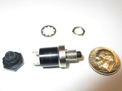 Mini Push Button Switch Alco Msp-103c0 Wboot Spst Off - On Momentary 3 Amps