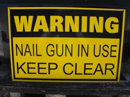 Nail Gun Warning Sign Manjimup Manjimup Area Preview