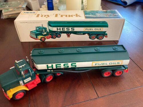 Vintage 1977-78 Original Hess Toy Truck Gasoline Fuel Oil Tanker W/ Box Woodbrid