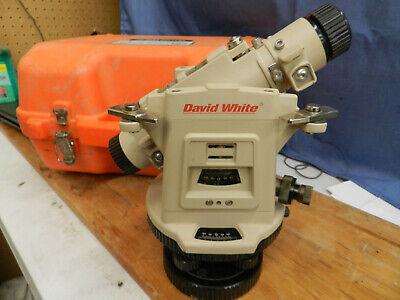 David White Instuments Transit Level With Optical Plummet Lt8-300p W Case