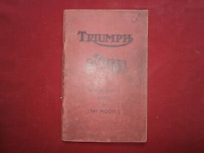 Triumph replacements parts for 1949 models