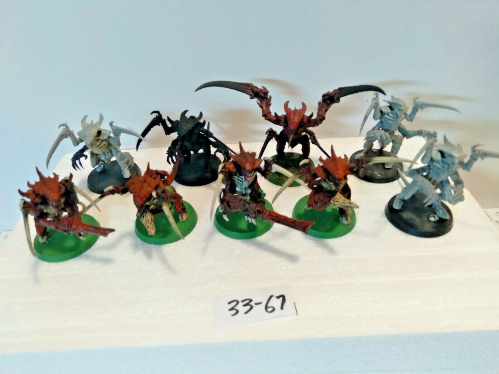 L33-67 Warhammer 40k Tyranid Warriors 9 Some Paint - $70.00