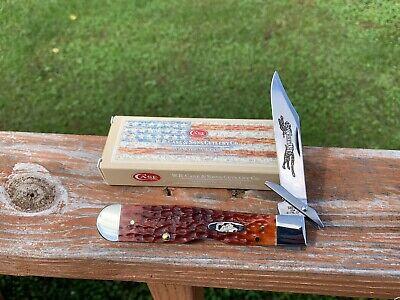 CASE XX CHEETAH KNIFE CHESTNUT BONE HANDLES w/BOX UNUSED 2021