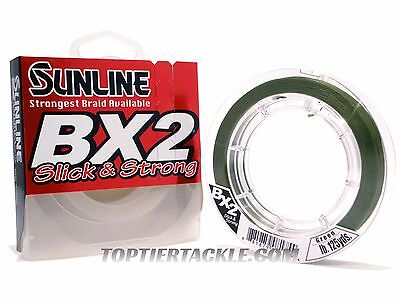 Sunline BX2 Braided Line 125 Yard Spool - Dark Green ()