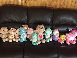 13 1980s Plushies! Care Bears, Popples