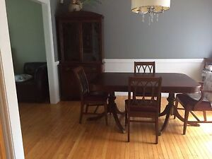 Mahogany antique dining set