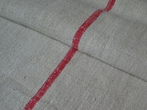 Antique European Feed Sack GRAIN SACK Red Stripe # 8738