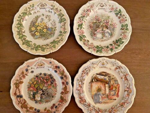 4 Vintage ROYAL DOULTON Plates Spring Summer Autumn Winter FOUR SEASONS 1982 P19