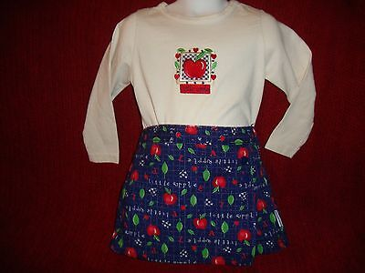 Vintage Healthtex Girls Little Apple First Day of School Shirt Skort Outfit 4 - First Day Of School Girl