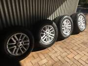 """TOYOTA HILUX SR5  17"""" GENUINE ALLOY WHEELS AND TYRES Queanbeyan Area Preview"""