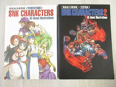 SNK CHARACTERS Art Book Set 1 & 2 Illustration Neo Geo Book *