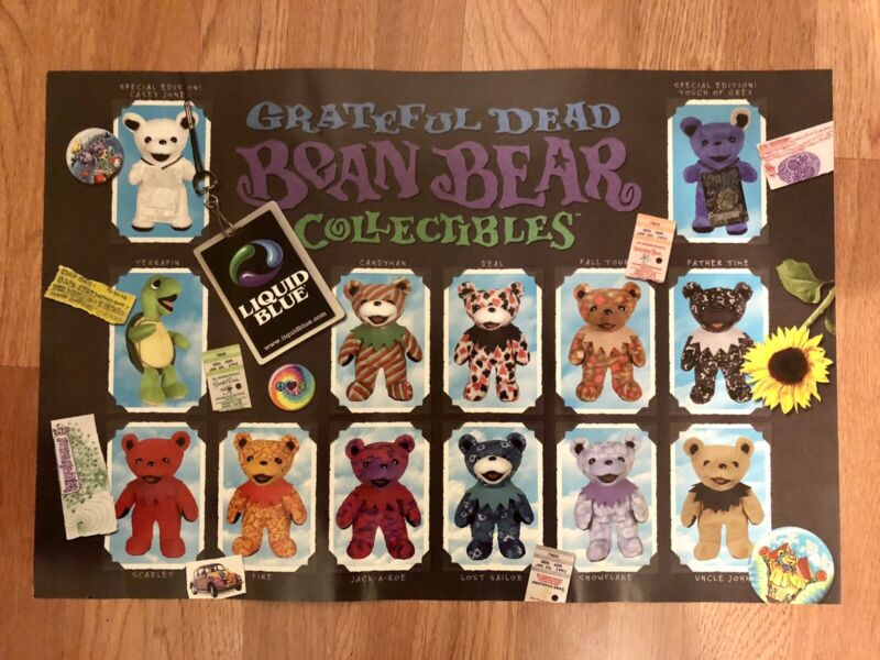 NEW Grateful Dead Bean Bear Collectibles Poster