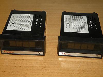 Simpson 24663 0 To 650 C Model 2871 Temperature Panel Meter Controller