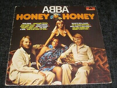POLYDOR LP ABBA HONEY HONEY 1977 VERSION RING RING FRIDA AGNETHA