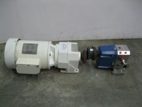 "1"" Viking Idex S1S Sanitary Rotary Lobe SS Pump 1 HP Motor Z44 (2654)"
