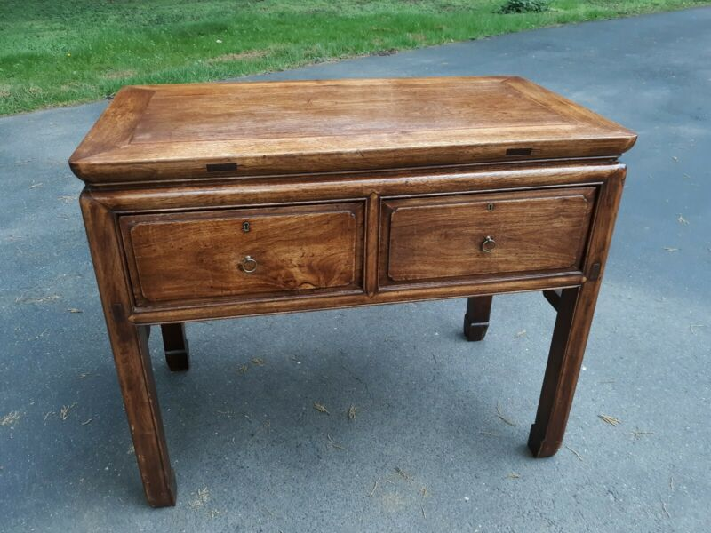 Outstanding Large Antique Chinese Hardwood Desk Table or Console
