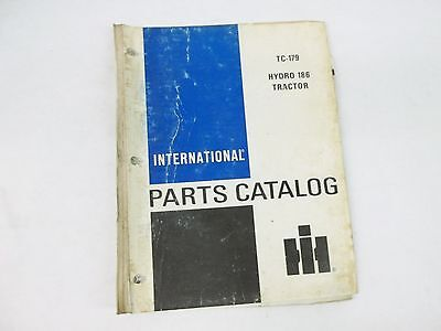 International Harvester Hydro 186 Tractor Parts Catalog