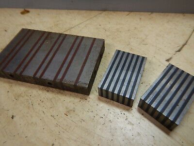 3 Magnetic Transfer Plates Blocks Machinist Tooling Jig Fixture Surface Grinding