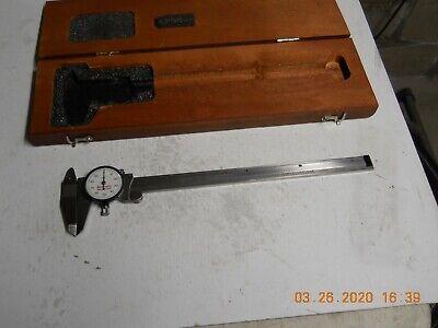 Starrett 120-9 Dial Caliper. Wwooden Case Slightly Used
