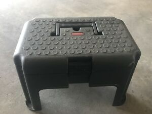 Rubbermaid step/stool storage