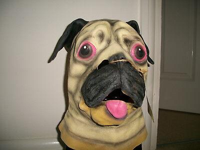 Horror Halloween party animal pug latex mask (Pug Halloween Mask)