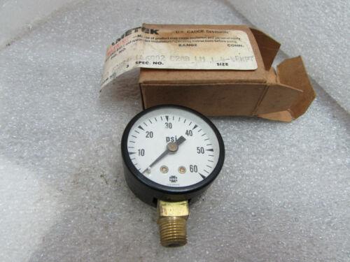 """USG AMETEK P500 0-60 PSI Pressure Gauge NIB U.S. GAUGE 1-1/2""""-1/8 ANPT (A4)"""