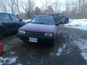 1988 toyota tercell only 65000km on it!!!!!