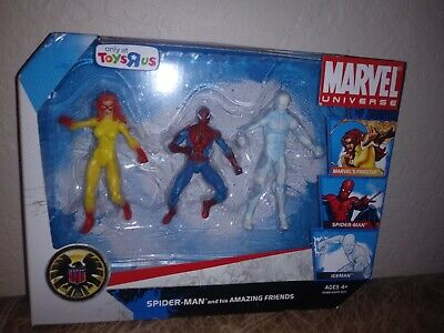 "Marvel Universe 3.75"" SPIDER-MAN AND HIS AMAZING FRIENDS Toys R Us Exclusive MIB"