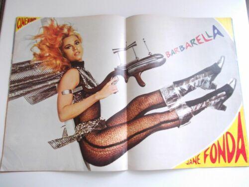 BARBARELLA JANE FONDA 1968 FRENCH MAGAZINE SCI-FI MOVIE POSTER