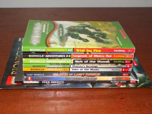 Lot of 9 Bionicle books PB Adventures, Chronicles, etc. Scholastic