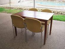 wooden dining table & 4 upholstered chairs Greenfield Park Fairfield Area Preview