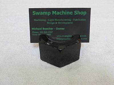 Steampunk Industrial Nut Business Card Holder Desktop Displa