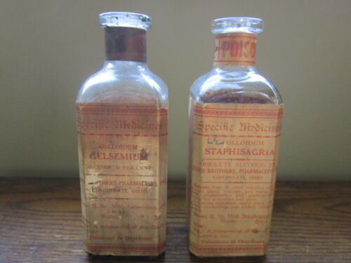 POISON Lloyd Brothers Pharmacists Specific Medicines Bottles Pharmacy Apothecary