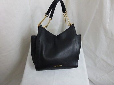 NEW Michael Kors Newbury Medium Chain Shoulder Tote Black MSRP $328